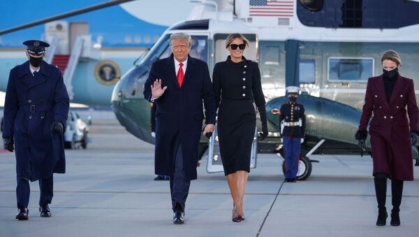 Donald et Melania Trump ont quitté la Maison-Blanche   - Sputnik France