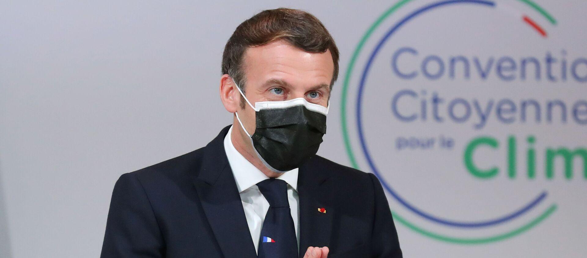 Emmanuel Macron devant la Convention citoyenne pour le climat (CCC), le 14 décembre 2020 - Sputnik France, 1920, 21.01.2021