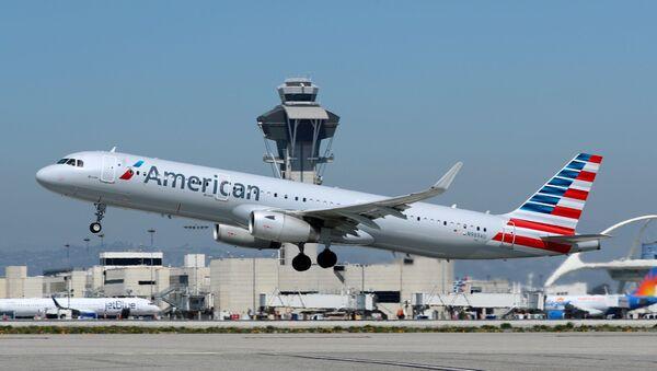 Un Airbus A321 d'American Airlines à l'aéroport international de Los Angeles - Sputnik France