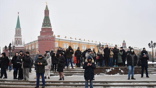 Les sympathisants de Navalny à Moscou - Sputnik France