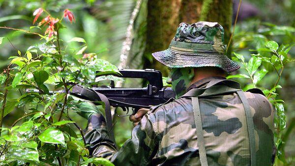 Un légionnaire du 3e REI (Régiment Etranger d'Infanterie) s'entraine au combat en jungle. - Sputnik France