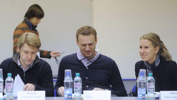 Vladimir Achourkov, Alexeï Navalny, Lioubov Sobol, 2012 - Sputnik France