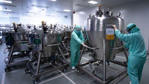Au sein du centre de distribution mondial de la société pharmaceutique française Sanofi à Val-de-Reuil - Sputnik France