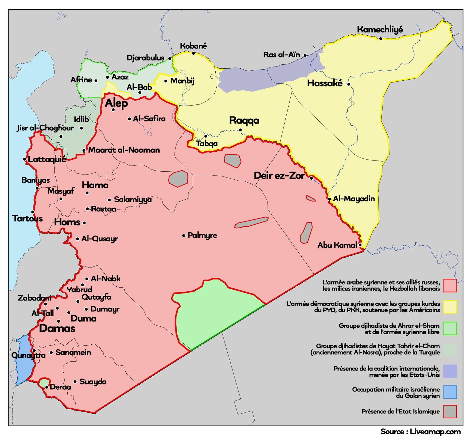 La Syrie prise entre le marteau de Daech et l'enclume américaine: «les sanctions font le jeu de la radicalisation» - Sputnik France, 1920, 05.02.2021