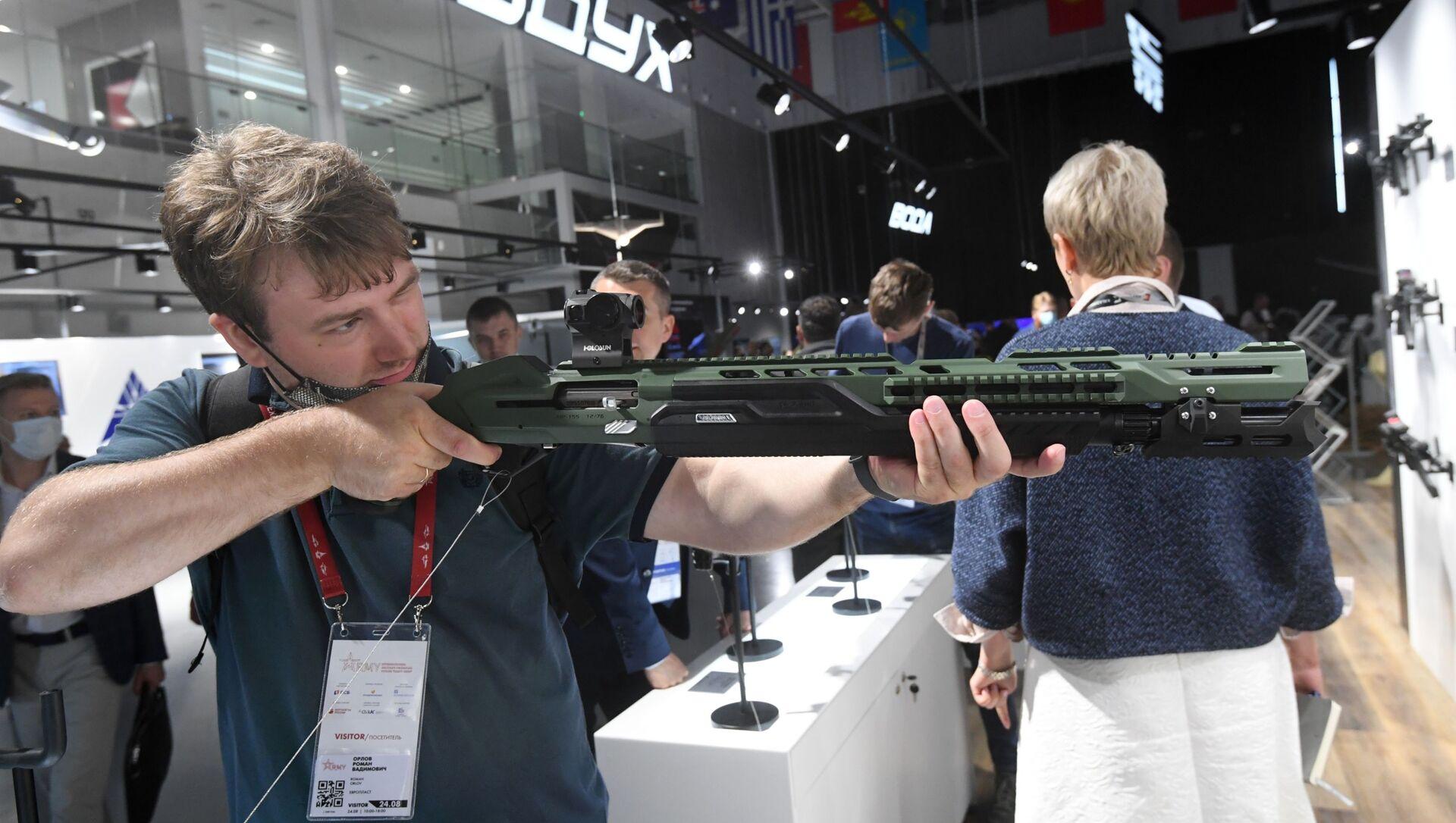 le fusil MP-155 Ultima présenté lors du forum Armée 2020 - Sputnik France, 1920, 09.02.2021
