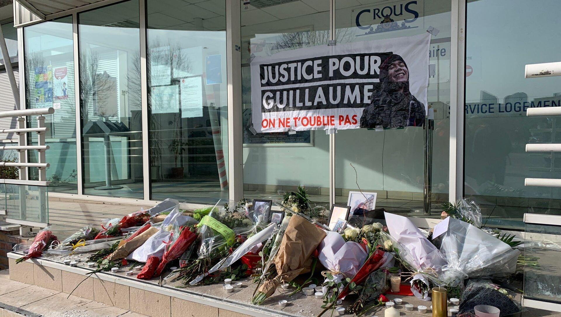 Rassemblement d'hommage à Guillaume T., Nanterre, le 11 février 2021 - Sputnik France, 1920, 11.02.2021