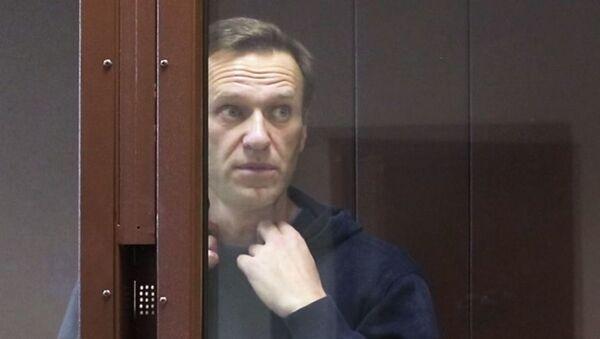 Alexeï Navalny au tribunal  - Sputnik France