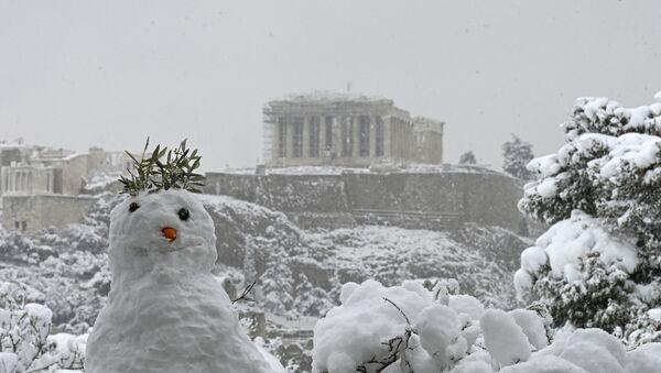 Athènes sous la neige  - Sputnik France