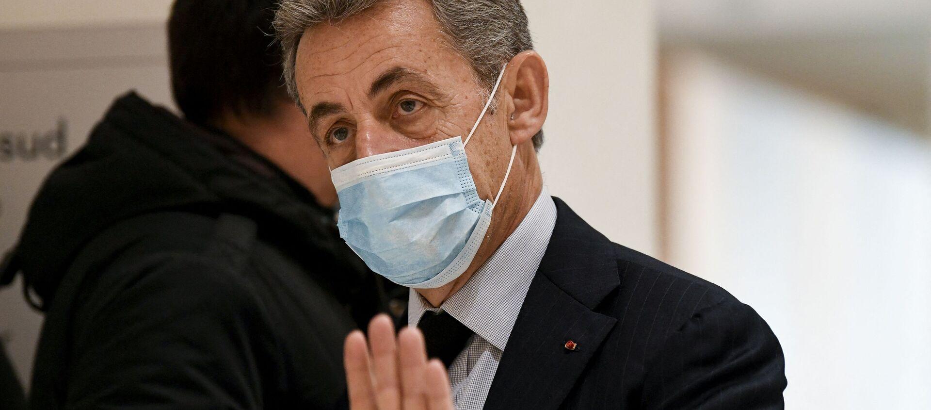 Nicolas Sarkozy lors de son procès, le 10 décembre 2020 - Sputnik France, 1920, 02.03.2021