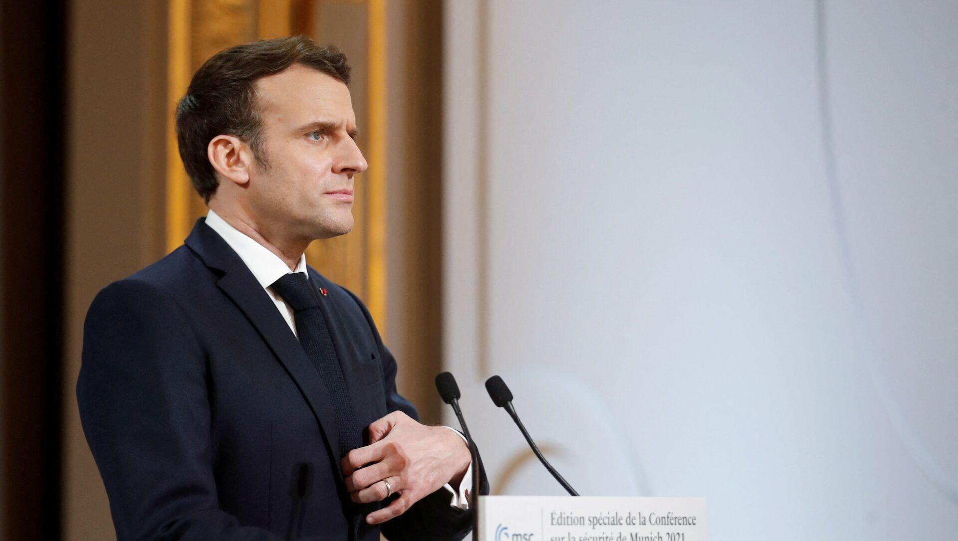 Emmanuel Macron  - Sputnik France, 1920, 17.03.2021