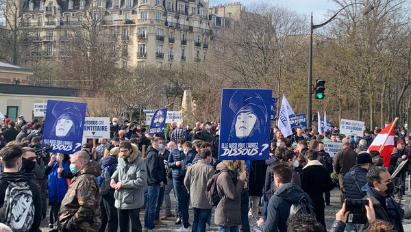Les membres de Génération identitaire se rassemblent à Paris pour protester contre sa dissolution, 20 février 2021 - Sputnik France