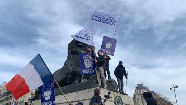 Génération identitaire lors d'une manifestation à Paris - Sputnik France