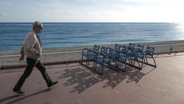 La Promenade des anglais à Nice, le 12 novembre 2020, lors du confinement - Sputnik France