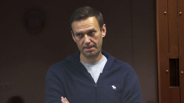 Alexeï Navalny lors d'un procès à Moscou (archive photo) - Sputnik France