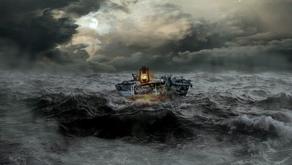 Bateau dans la tempête - Sputnik France