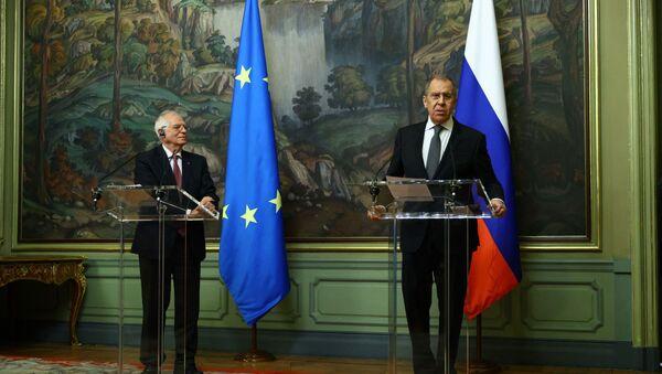 Serguei Lavrov et Josep Borrell à Moscou - Sputnik France