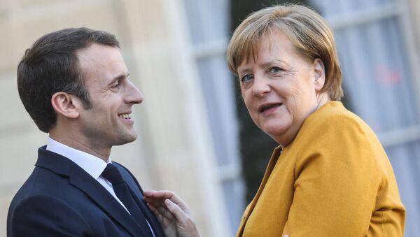 Emmanuel Macron accueille Angela Merkel à l'֤Élysée, 27 février 2019 - Sputnik France