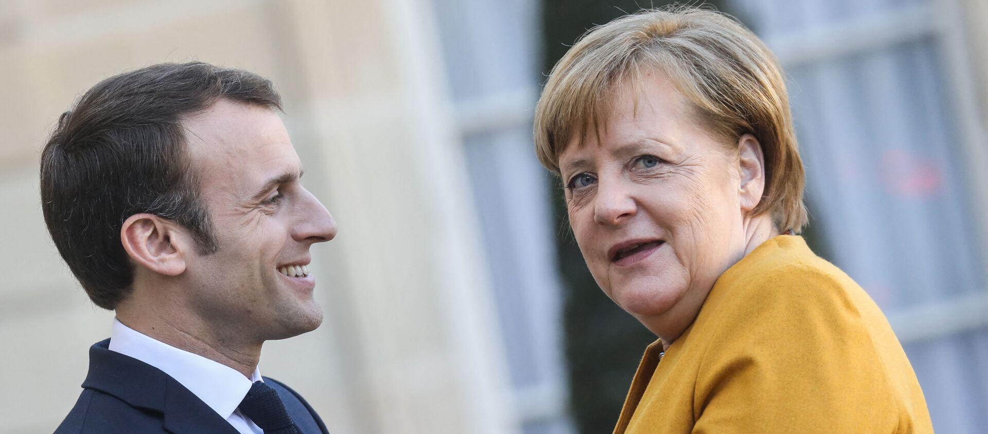 Emmanuel Macron accueille Angela Merkel à l'֤Élysée, 27 février 2019 - Sputnik France, 1920, 14.03.2021