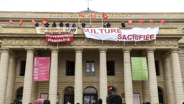 L'occupation du théâtre de l'Odéon, le 5 mars - Sputnik France