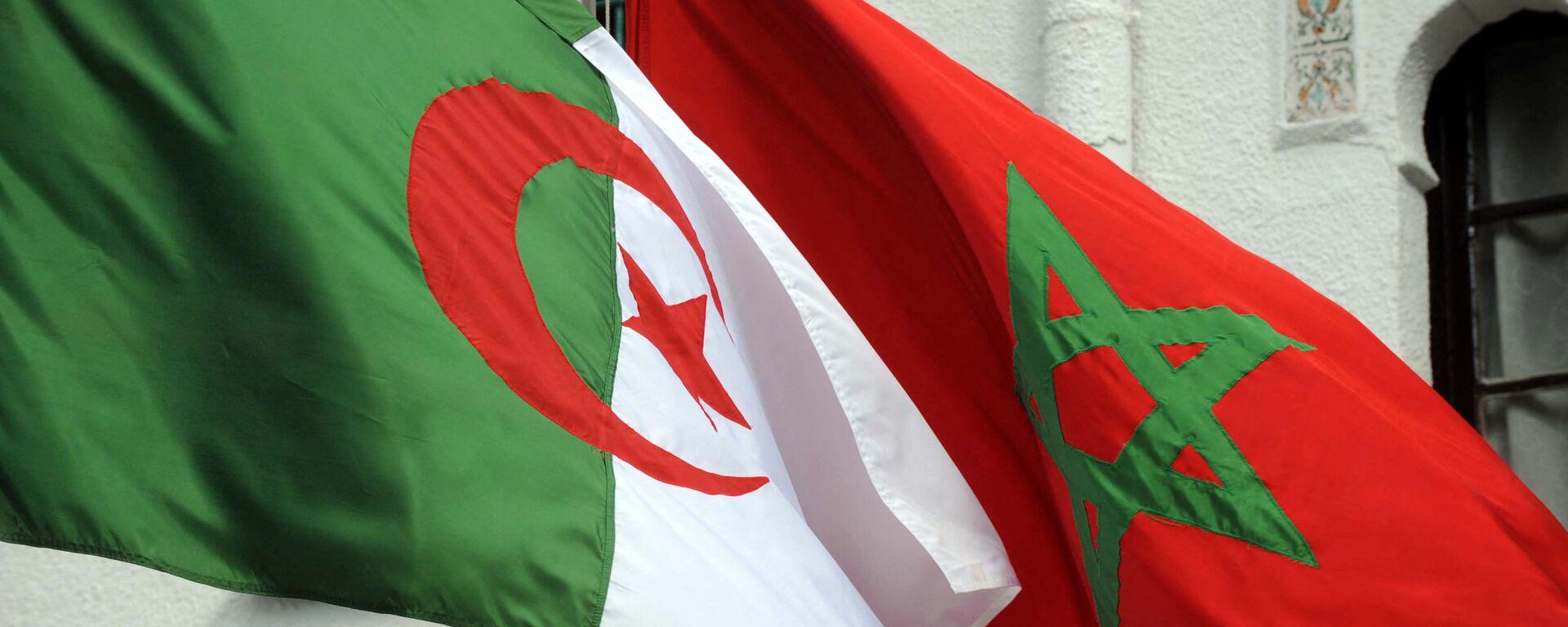 Drapeaux de l'Algérie et du Maroc - Sputnik France, 1920, 27.04.2021