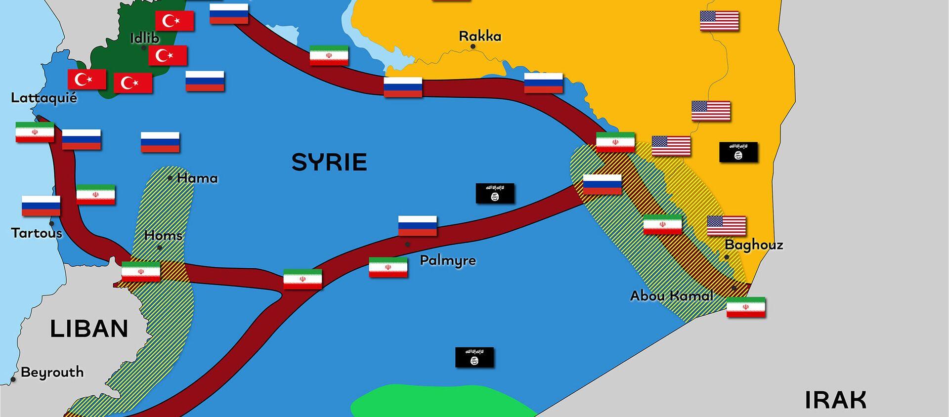 Syrie : un territoire fragmenté par de nombreuses puissances - Sputnik France, 1920, 16.03.2021