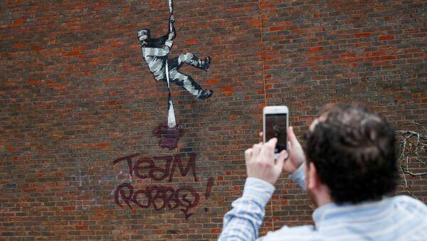 Une oeuvre de Banksy vandalisée à Reading, en Angleterre  - Sputnik France