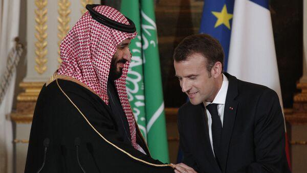 Conférence de presse conjointe d'Emmanuel Macron et Mohamed Ben Salmane - Sputnik France