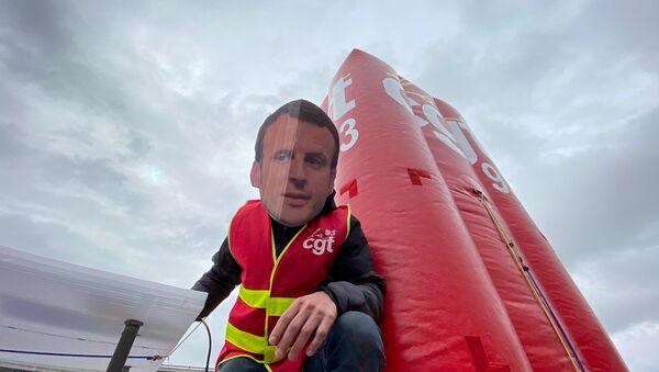 Manifestation 18 mars  2021 à l'aéroport Roissy-Charles-de-Gaulle - Sputnik France