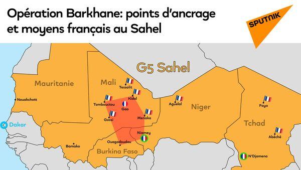 Opération Barkhane: points d'ancrage et moyens français au Sahel - Sputnik France