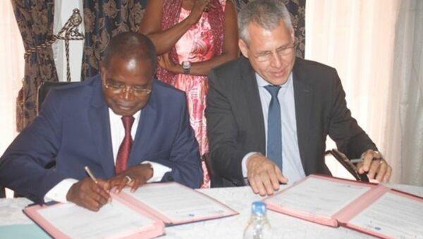Signature du partenariat entre la région du Bélier en Côte d'Ivoire et la région Auvergne-Rhône-Alpes en France - Sputnik France