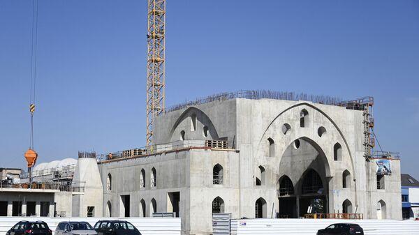 Le chantier de la mosquée Eyyub Sultan à Strasbourg dans le quartier de la Meinau, mars 2021 - Sputnik France