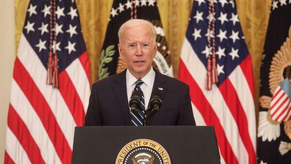 Joe Biden lors de sa première conférence de presse à la Maison-blanche - Sputnik France
