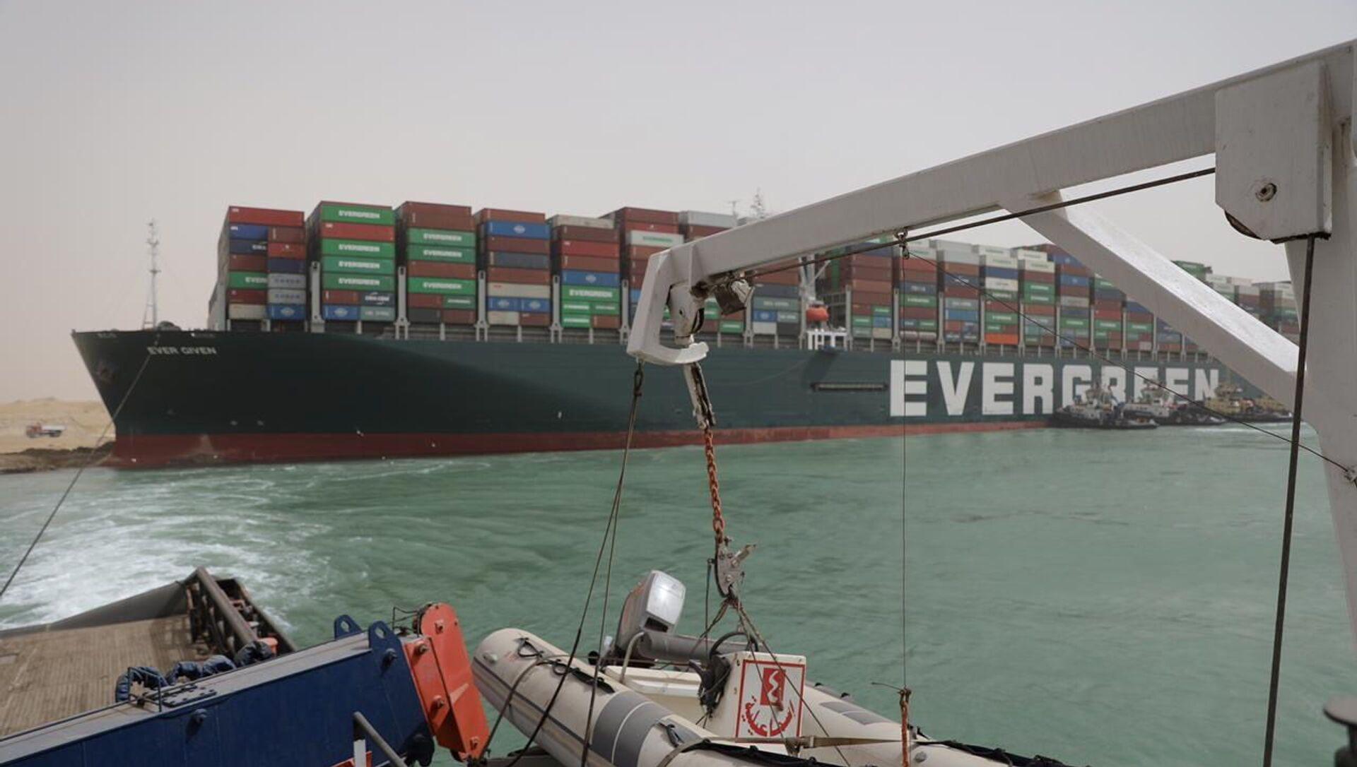 Le porte-conteneurs Ever Given bloque le canal de Suez - Sputnik France, 1920, 27.03.2021
