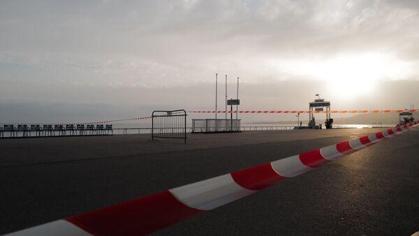 La promenade des Anglais en plein confinement à Nice, février 2021 - Sputnik France