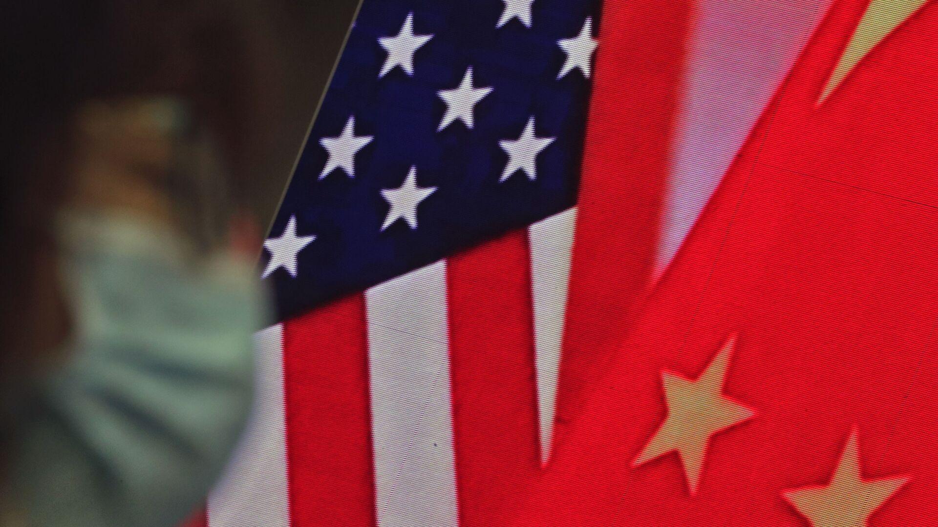 Drapeaux de la Chine et des USA - Sputnik France, 1920, 27.07.2021