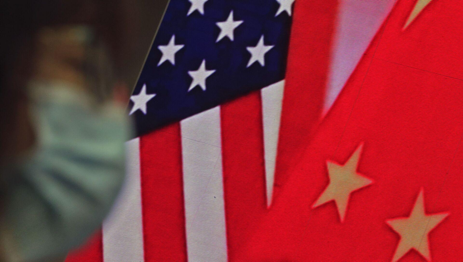 Drapeaux de la Chine et des USA - Sputnik France, 1920, 25.08.2021