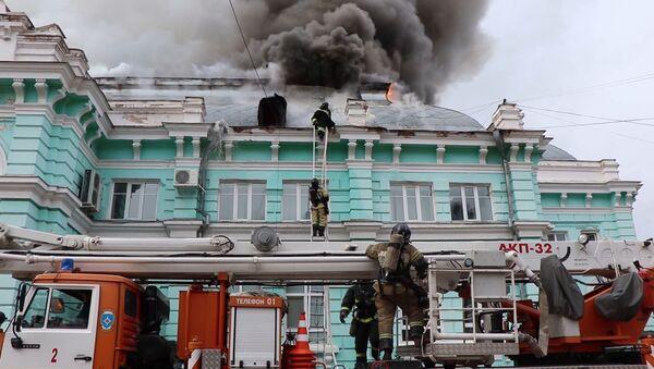 L'incendie dans une clinique de chirurgie cardiaque à Blagovechtchensk - Sputnik France