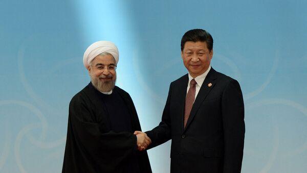 Le Président iranien Hassan Rouhani et son homologue chinois XI Jinping - Sputnik France