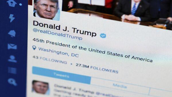 Compte twitter de Donald Trump (photo d'archive) - Sputnik France