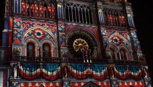 Un spectacle son et lumière sur la façade de Notre-Dame de Paris, 2018 - Sputnik France