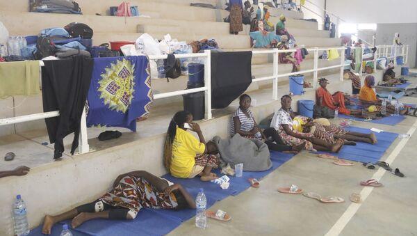 Des réfugiés trouvent abri dans un centre à Afungi, au Mozambique, après avoir fui les attaques à Palma dans le nord du pays, le 2 avril 2021 - Sputnik France