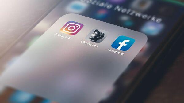Applications Instagram, Clubhouse et Facebook (archive photo) - Sputnik France