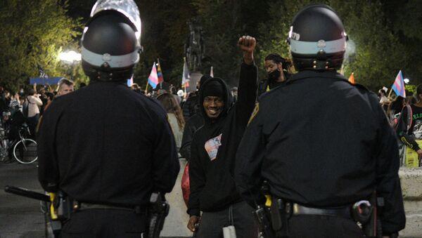 La police américaine lors d'une manifestation BLM  - Sputnik France