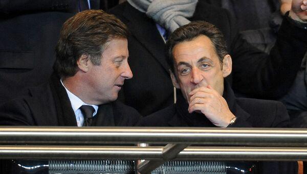 Nicolas Sarkozy, alors président de la République, et Sébastien Bazin, PDG d'Accor. - Sputnik France
