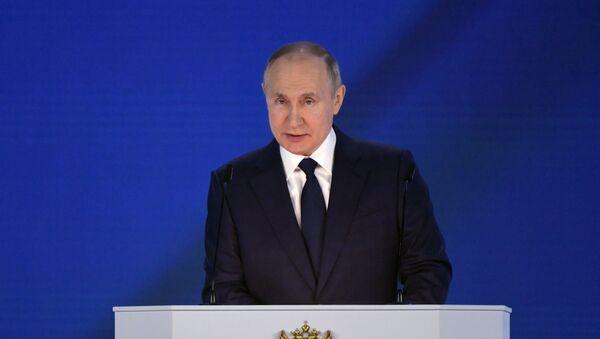 Vladimir Poutine s'adresse à l'Assemblée fédérale, le 21 avril 2021 - Sputnik France