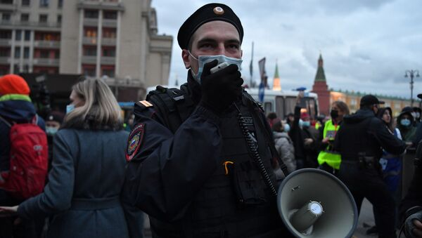 Action non autorisée en soutien à Alexeï Navalny à Moscou  - Sputnik France