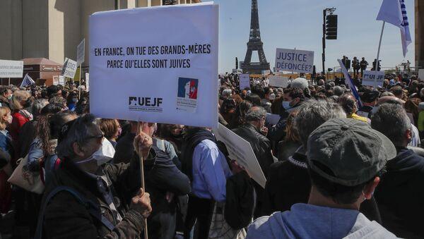 Rassemblement pour Sarah Halimi, le 25 avril 2021 - Sputnik France