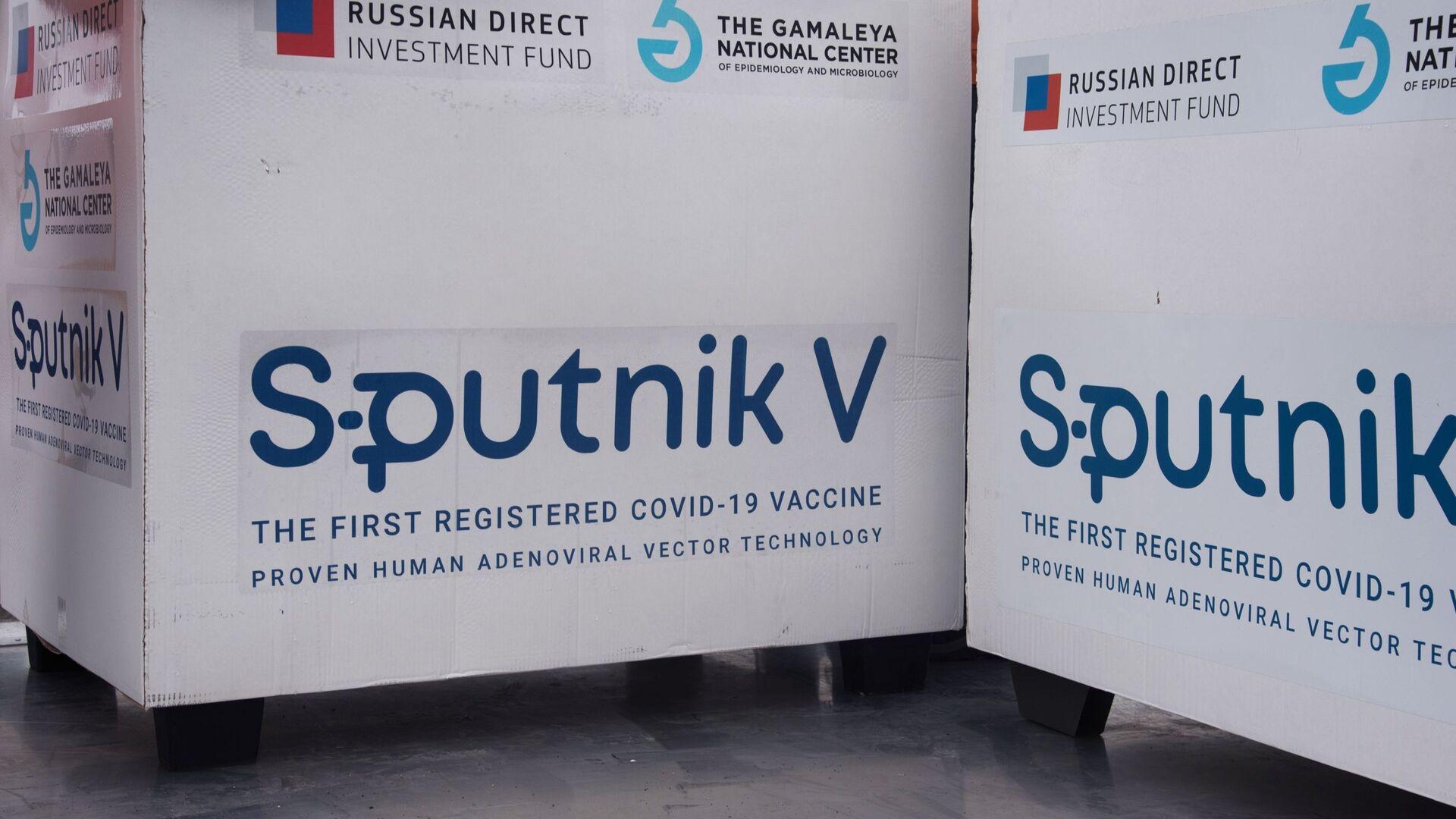 Un lot du vaccin russe Spoutnik V exporté à l'étranger (archive photo) - Sputnik France, 1920, 25.07.2021