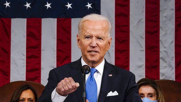 Le Président américain Joe Biden prononce un discours devant le Congrès, le 28 avril 2021 - Sputnik France