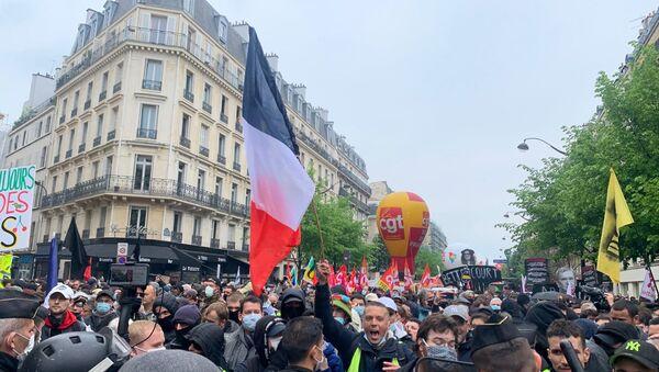 Manifestation du 1er mai à Paris, en 2021 - Sputnik France